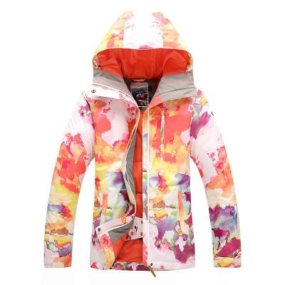 cf60d46658643 Женская ветрозащитная водонепроницаемая зимняя горнолыжная куртка GSOU SNOW